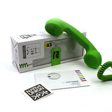 Handset Pop Phone Retro Wired Telephone Laptop Native Union Green 3.5mm