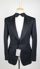 NWT TOM FORD Classic Black Peak Lapels Mohair Blend Tuxedo Suit 52/42 L Base A