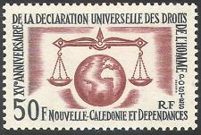 New Caledonia 1963 Human Rights 15th Anniversary/Scales/Justice/UN 1v (n42108)