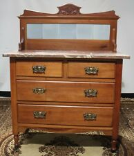 Antique Marble Top washstand dressing chest of drawers FREE DELIVERY #PL593