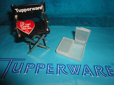 VINTAGE TUPPERWARE SHEER STAMPS N THINGS # 1863 PILL / SEWING CONTAINER GADGET