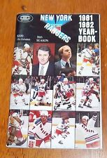 New York Rangers media quide year book 1981-82