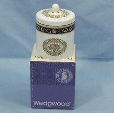 WEDGWOOD RUNNYMEDE BONE CHINA BOXED LIDDED JAR