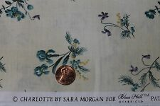 """""""CHARLOTTE"""" REPRODUCTION COTTON QUILT FABRIC BY THE YARD FOR BLUE HILL 7165-16"""