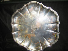 VINTAGE SILVER PLATE SMALL SERVING TRAY-INTERNATIONAL SILVER CO.SCROLL IN CENTER