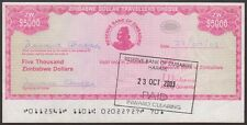 TWN - ZIMBABWE 16 - 5000 D. 2003 aXF Emergency Issue - FREE SHIPPING over €150