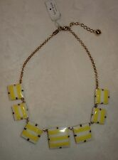 KATE SPADE Yellow Frontal Necklace NEW