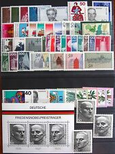 Germany Complete Year 1975 Stamp Set w/ SS Mint Never Hinged MNH German Stamps