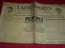 [Coll. Jean DOMARD SPORTS] L'AERO-SPORTS Auto Vélo Aviation Boxe etc. N°171 1924