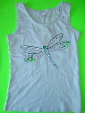 NWT GAP KIDS WATER GARDEN SPARKLY GRAPHIC TANK SMALL 6-7 DRAGONFLY SEQUINS