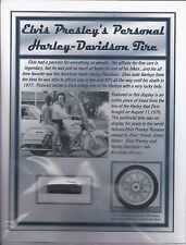 Elvis Presley Personal Harley Davidson Tire Tread - Owned & Used by the King!