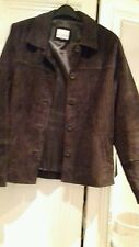 LADIES BROWN SUEDE PAPAYA JACKET SIZE 10
