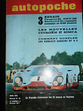 1970 AUTOPOCHE NOUVELLE CITROËN  SIMCA 24H DAYTONA VOIR SOMMAIRE SPORT AUTO ( 25