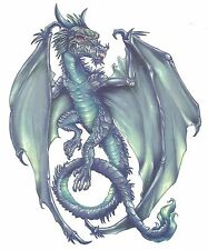 DRAGON GREEN EXTRA LARGE SIZE Temporary Tattoo
