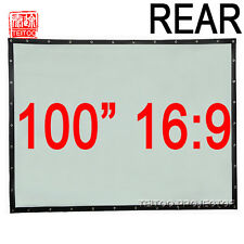 "100"" 16:9 PVC Wall Mount Back Rear Projection Screen Film for Home HD Projectors"