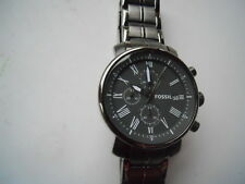 Fossil chronograph men's dress,battery,water resistant & Analog watch.Bq-1004