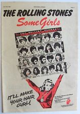 THE ROLLING STONES 1978 Poster Ad SOME GIRLS