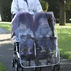 QUALITY UNIVERSAL DOUBLE TWIN RAIN COVER for BABY BUGGY PRAM STROLLER PUSHCHAIR