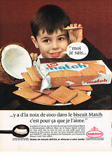 PUBLICITE ADVERTISING   1962   MATCH  biscuits  petits beurre