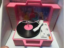 DISNEY PRINCESSES ANIMATED CENTERPIECE LIGHTS MUSIC MINI RECORD PLAYER PINK HTF