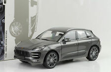 2014 Porsche Macan turbo Grey gris metalizado 1:18 Minichamps