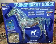 "LINDBERG 14"" TALL 16"" LONG TRANSPARENT HORSE PLASTIC MODEL KIT BRAND NEW IN BOX"