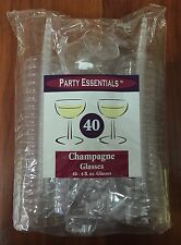 Party Essentials 40 Count Champagne Glasses  4-Ounce