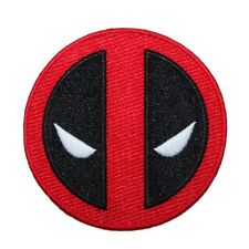 Deadpool Movie Logo Iron-On Patch Marvel Superhero Character Face Mask Applique
