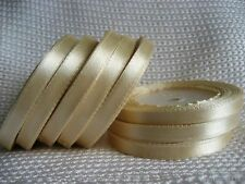 """15 yards Of 6mm (1/4"""") Satin Ribbon Rolls Many Colours Free P&P"""