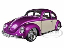 VOLKSWAGEN BEETLE LOW RIDER PURPLE 1/24 DIECAST CAR MODEL BY WELLY 22436