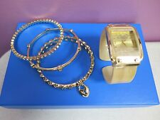 "R.J. Graziano ""Luxury Class"" Watch and 3-piece Bangle Bracelet Set"