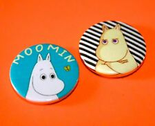 SET OF TWO MOOMIN TROLL BUTTON BADGES