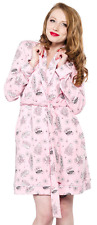130735 Bettie Page Pink Motel Robe Betty Pinup Retro 50s PJs Sourpuss Medium M