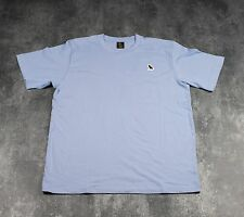 OVO-OWL logo patch Tee - 'Dusty Blue-Size X-Large-Drake Yeezy more life