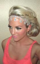 AB Diamond Diamante Crystal Dangle Forehead Hair Band Choochie Choo Bridal Bride