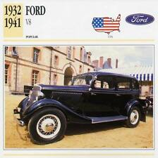 1932-1941 FORD V8 Classic Car Photograph / Information Maxi Card