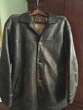 Andrew Marc  Distressed Leather Bomber Jacket Mens XL