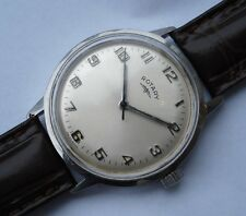 BIG 34.5mm CLASSIC 1960's ROTARY SWISS STEEL HAND WOUND WATCH  AS/ST 1950/51
