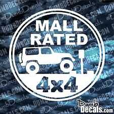 MALL RATED Jeep Decal vinyl sticker Wrangler 4x4 flex trail garage trailer queen