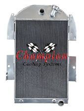 1934-1936 Chevy Pickup Truck w/6cyl Aluminum 3 Row Champion Radiator, CC3436