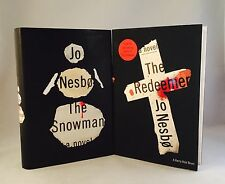 Jo Nesbo-2 Books-BOTH SIGNED!-First U.S. Editions/1st Printings-Snowman-Redeemer