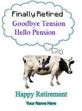 Cow  Happy Retirement A5 Greeting Card PIDcow1 bubble thoughts card friends
