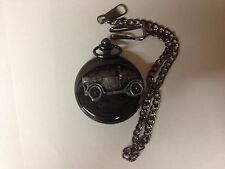 Austin 7 Chummy ref13 emblem polished black case mens pocket watch