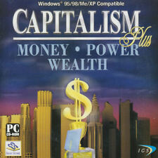 CAPITALISM PLUS Win95-XP Strategy Business Tycoon for Windows PC Game NEW
