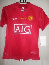 Ronaldo cl final firmado Manchester United Home Football Shirt Con Coa / 21882