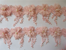 Tassels Flower Pearl Fringe Lace Edge Trim Ribbon Applique Sewing Craft 1 yard
