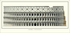 Rom Kolosseum Poster Kunstdruck Bild Plakat 100x47cm