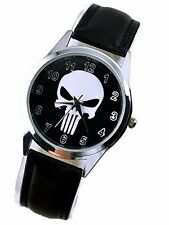 Marvel Comics The Punisher Series Symbol Leather Watch