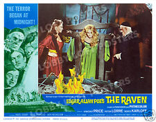 THE RAVEN LOBBY SCENE CARD # 5 POSTER 1963 BORIS KARLOFF
