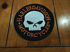 New Harley Davidson Skull Embroidered Cloth Patch Applique Badge Iron Sew On